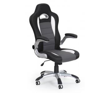 LOTUS- fotel obrotowy gabinetowy czarno-popielaty
