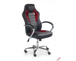 SCROLL - fotel obrotowy gabinetowy czarno -  czerwono - popielaty