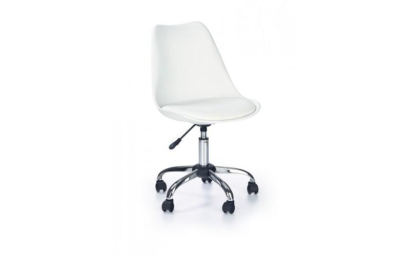 COCO - fotel młodzieżowy obrotowy biały