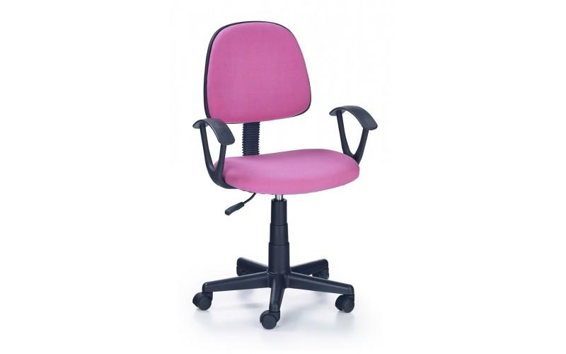 DARIAN BIS  - fotel młodzieżowy obrotowy różowy