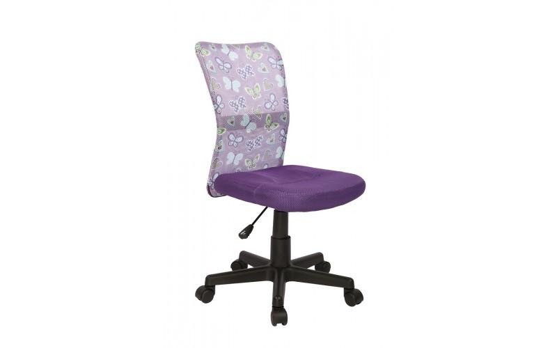 DINGO - fotel młodzieżowy obrotowy fioletowy