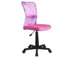 DINGO - fotel młodzieżowy obrotowy różowy