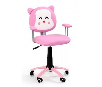 KITTY - fotel młodzieżowy obrotowy różowy