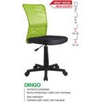 DINGO - fotel młodzieżowy obrotowy limonkowy