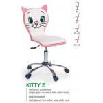 KITTY 2 fotel młodzieżowy obrotowy biało-różowy