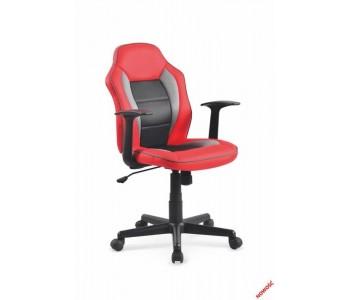 NEMO - fotel młodzieżowy czerwono - czarno - popielaty