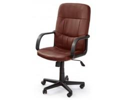 DENZEL - fotel pracowniczy obrotowy ciemno brązowy