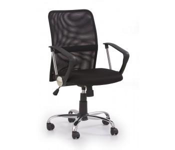 TONY - fotel pracowniczy obrotowy czarny