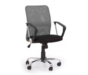TONY - fotel pracowniczy obrotowy popielaty