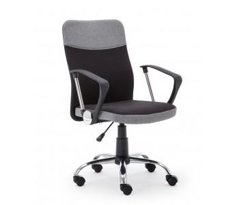 TOPIC –  fotel pracowniczy czarno - popielaty
