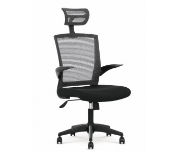 VALOR –  fotel pracowniczy czarno - popielaty