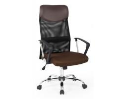 VIRE - fotel pracowniczy obrotowy brązowy