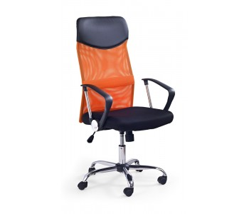 VIRE - fotel pracowniczy obrotowy pomarańczowy