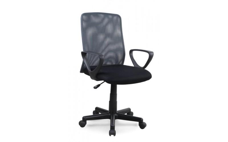 ALEX - fotel pracowniczy czarno - szary