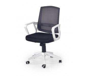 ASCOT - fotel pracowniczy czarno-biało-popielaty
