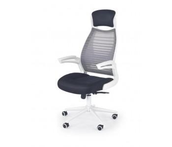 FRANKLIN - fotel pracowniczy czarno-popielaty