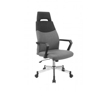 OLAF - fotel pracowniczy popielato-czarny