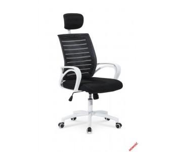 SOCKET - fotel pracowniczy czarno-biały