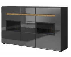 HEKTOR  Komoda 3D3SZ 160 cm (25)  Antracyt