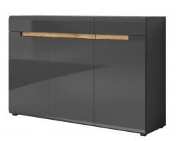 HEKTOR Komoda 3D3SZ 136 cm (45) Antracyt