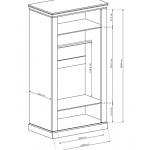 ANTICA - Szafa 107 x 198 (A16)
