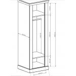 ANTICA - Szafa 67 x 198 (A17)