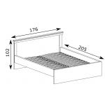ANTICA – Łóżko 160 bez materaca (A5)