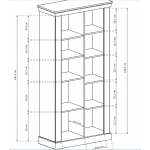 ANTICA - Witryna 97 x 198 (A10)