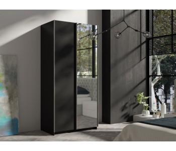 RICK - Szafa przesuwna 100 x 216 cm Czarny