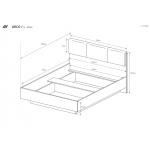 ARCO – Sypialnia Bez Materaca - Biały Połysk / Grandson