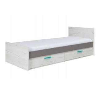 REST - Łóżko z szufladami 80 (5) z materacem