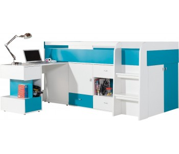 MOBI - Łóżko 90 z biurkiem bez materaca (M021)