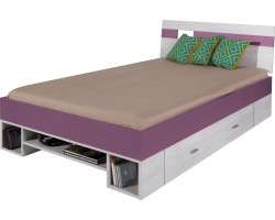 NEXT - Łóżko 120 z materacem (NX 18)