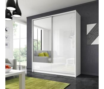 ARIA I - Szafa z lustrem 180 cm połysk