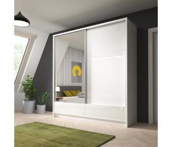 ARIA I - Szafa z lustrem 200 cm połysk