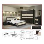 GABON - Sypialnia 1 z materacem bez pojemnika