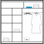 BRANDON CZARNA - Szafa przesuwna 203 x 215 2D z lustrem