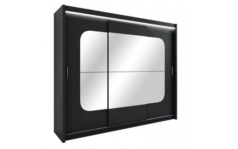 BARCELONA CZARNA  - Szafa przesuwna 250 3D