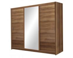 MONAKO - Szafa przesuwna 250 x 215  3D z lustrem - 5 KOLORÓW