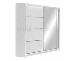 VISTA - Szafa przesuwna 180 x 215 2D z lustrem BIAŁA