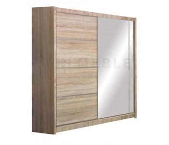 VISTA - Szafa przesuwna 180 x 215 2D z lustrem DĄB SONOMA