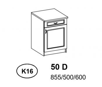 Bianka - Szafka Dolna  50 cm z szufladą