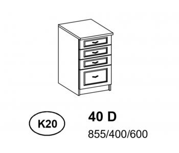 Bianka - Szafka Dolna  40 cm  z szufladami