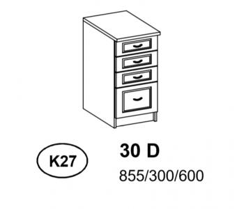 Bianka - Szafka Dolna  30 cm  szuflady