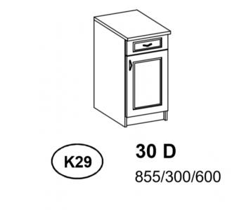 Bianka - Szafka Dolna  30 cm  szuflada