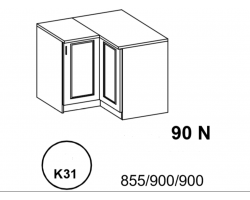 Bianka - Szafka Dolna narożna  90 cm