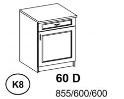 Bianka - Szafka Dolna 60 cm  z szufladą