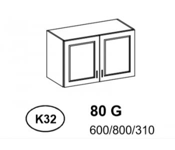 Bianka - Szafka górna 80 cm (k32)