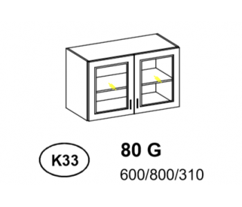 Bianka - Szafka górna 80 cm (k33)