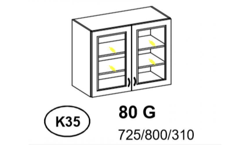 Bianka - Szafka górna 80 cm (k35)